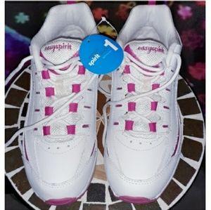 Easy Spirit Sneakers NWT & Box Sz 7 Pink & White